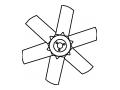 PLA421IN001 Вентилятор к LSA 44.2 LEROY-SOMER