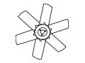129916-44740 Вентилятор YANMAR
