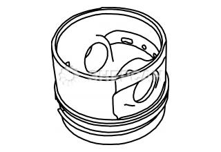 714320-22720 Поршень с кольцами YANMAR