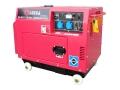 Дизель генератор Амперос LDG6000S-3 в кожухе